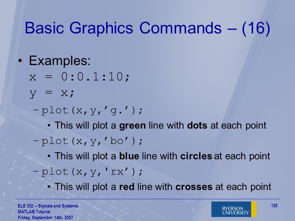 Basic Graphics Commands – (16)