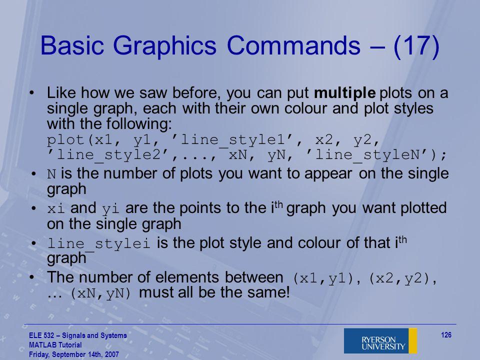 Basic Graphics Commands – (17)