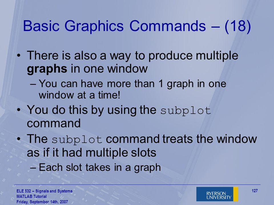 Basic Graphics Commands – (18)