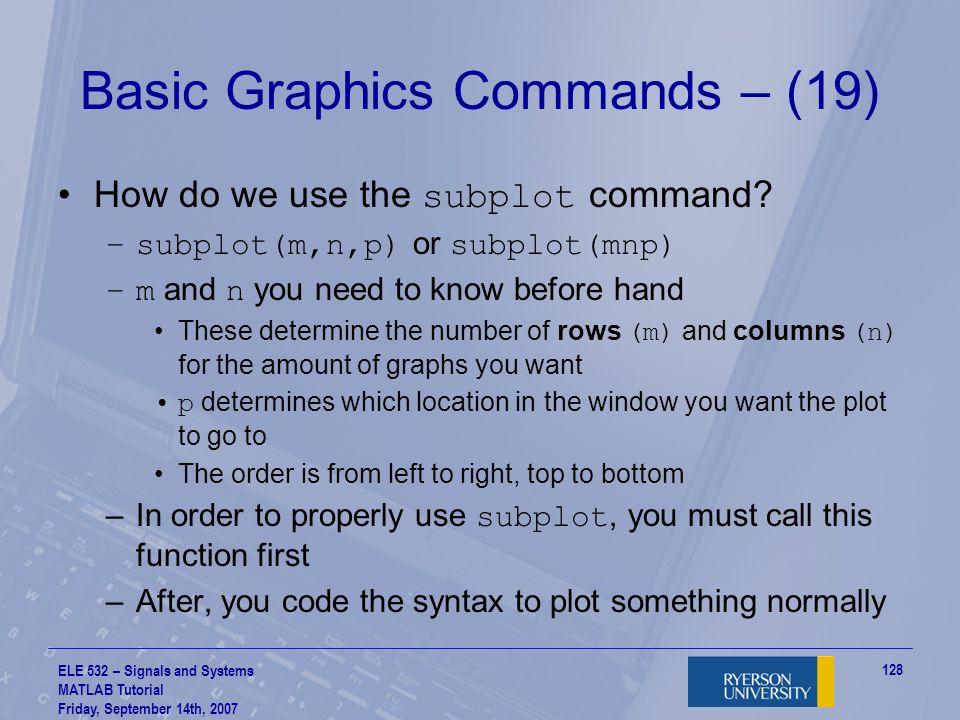 Basic Graphics Commands – (19)