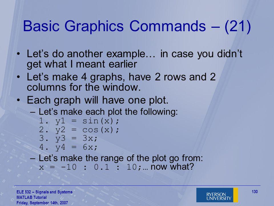 Basic Graphics Commands – (21)