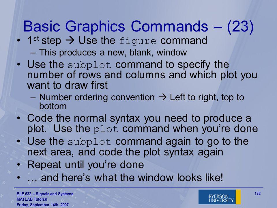 Basic Graphics Commands – (23)