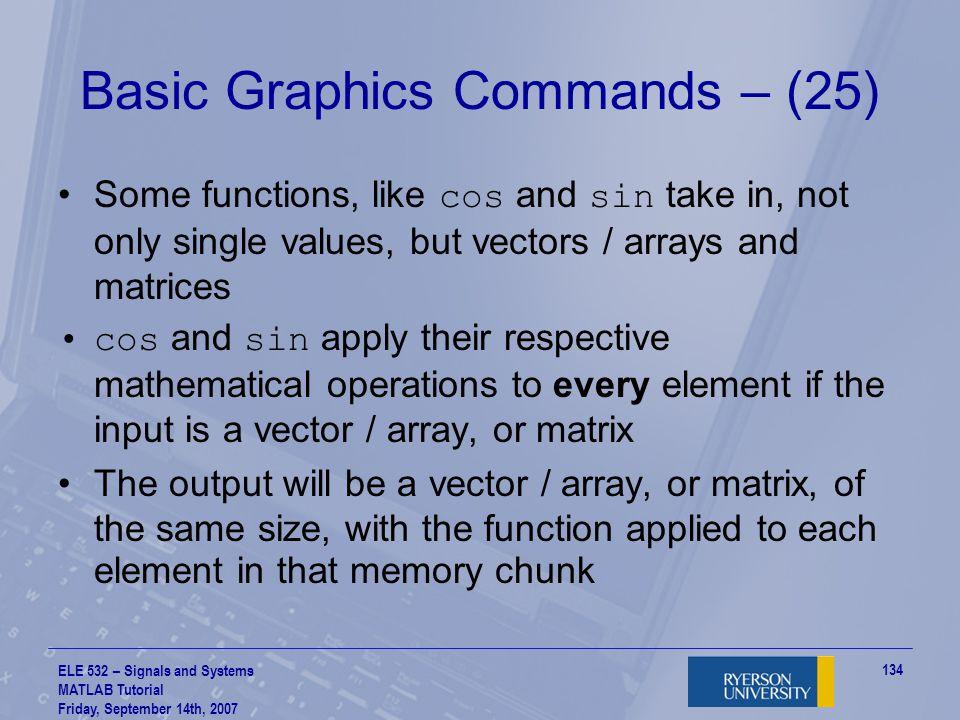 Basic Graphics Commands – (25)