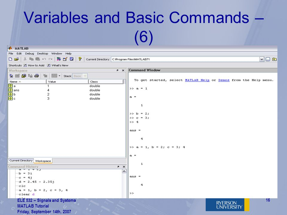 Variables and Basic Commands – (6)