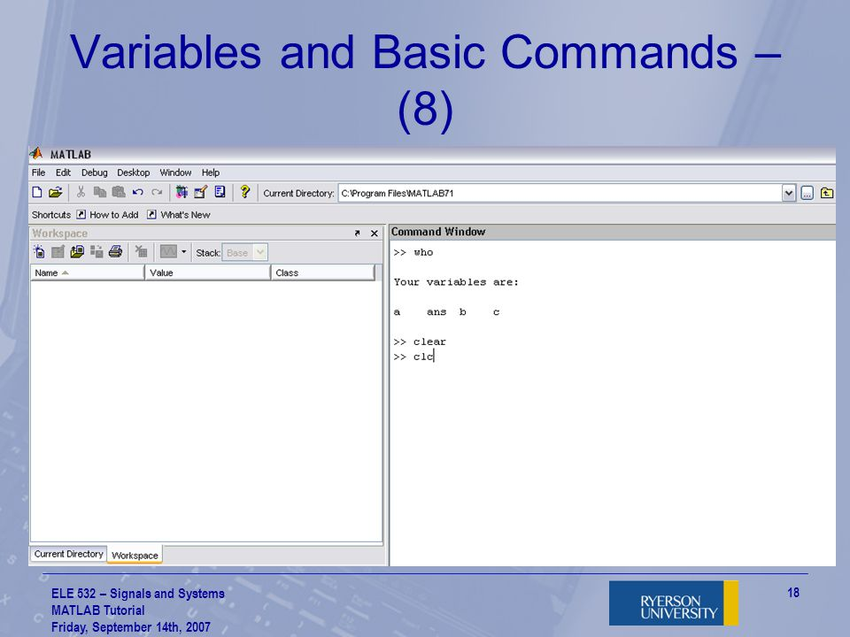 Variables and Basic Commands – (8)