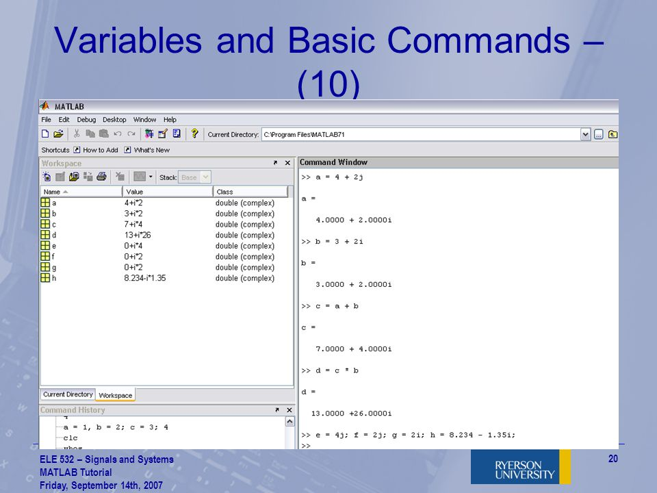 Variables and Basic Commands – (10)