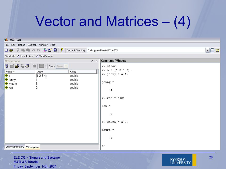 Vector and Matrices – (4)