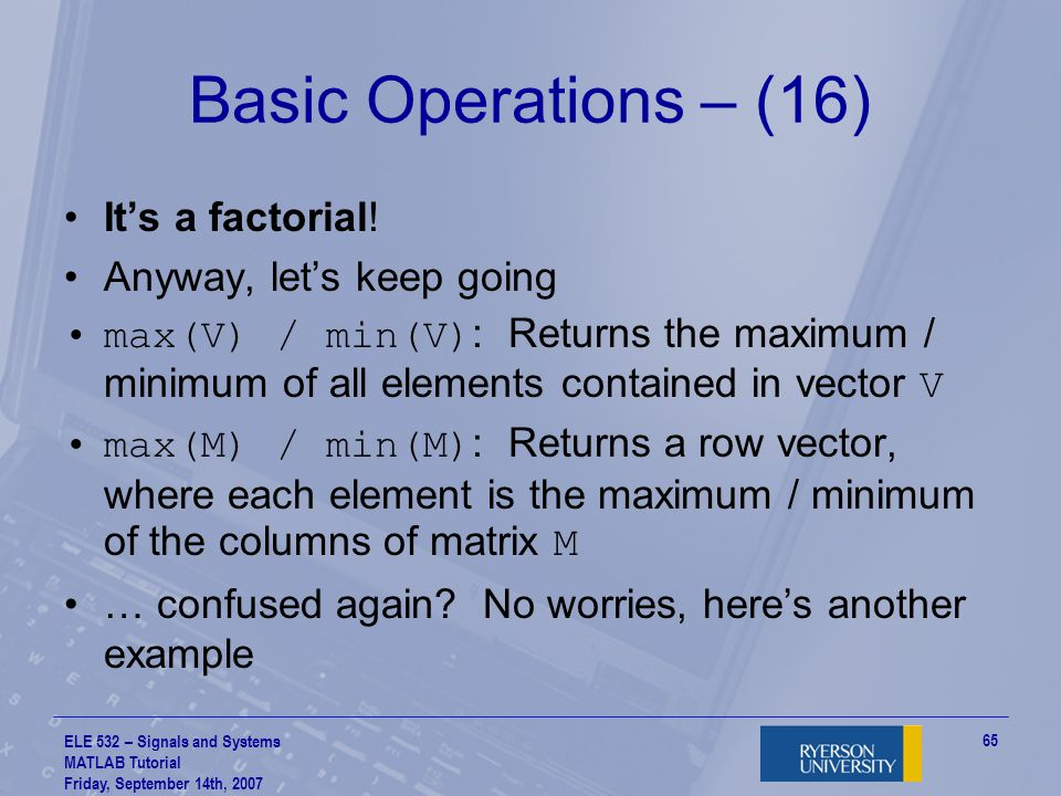 Basic Operations – (16) It's a factorial! Anyway, let's keep going