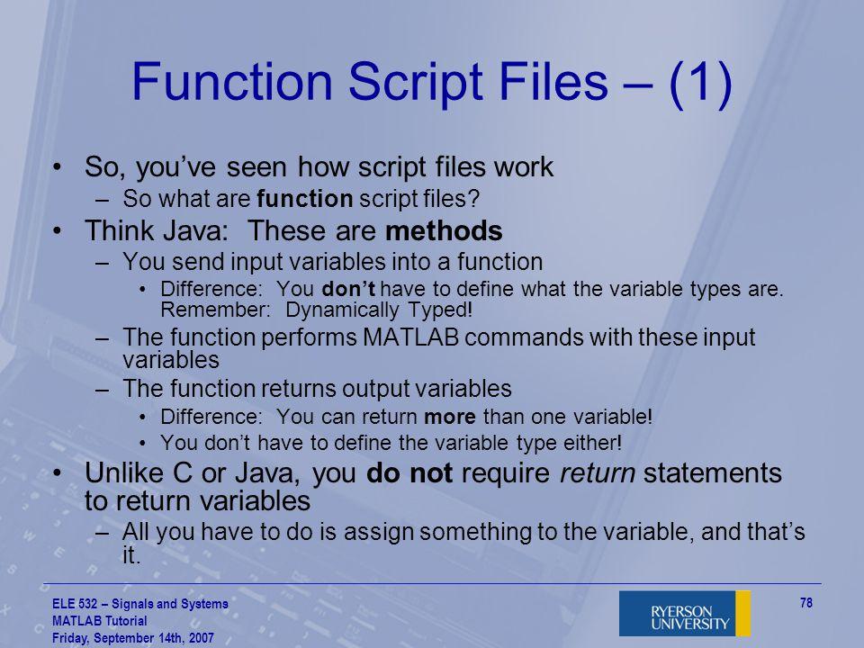 Function Script Files – (1)