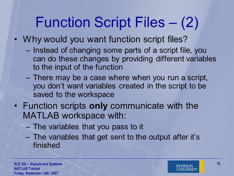 Function Script Files – (2)