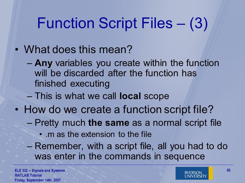 Function Script Files – (3)