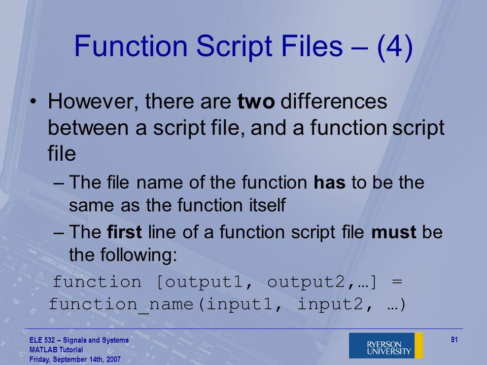 Function Script Files – (4)