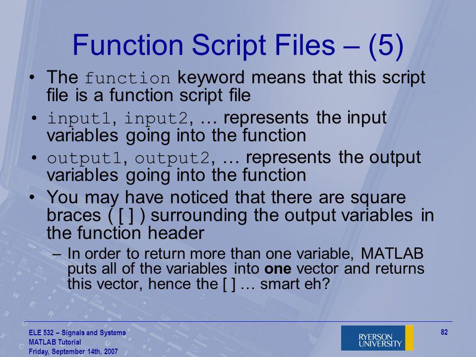 Function Script Files – (5)