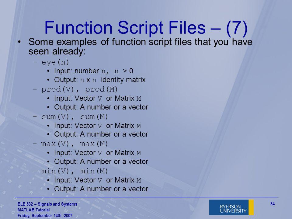 Function Script Files – (7)