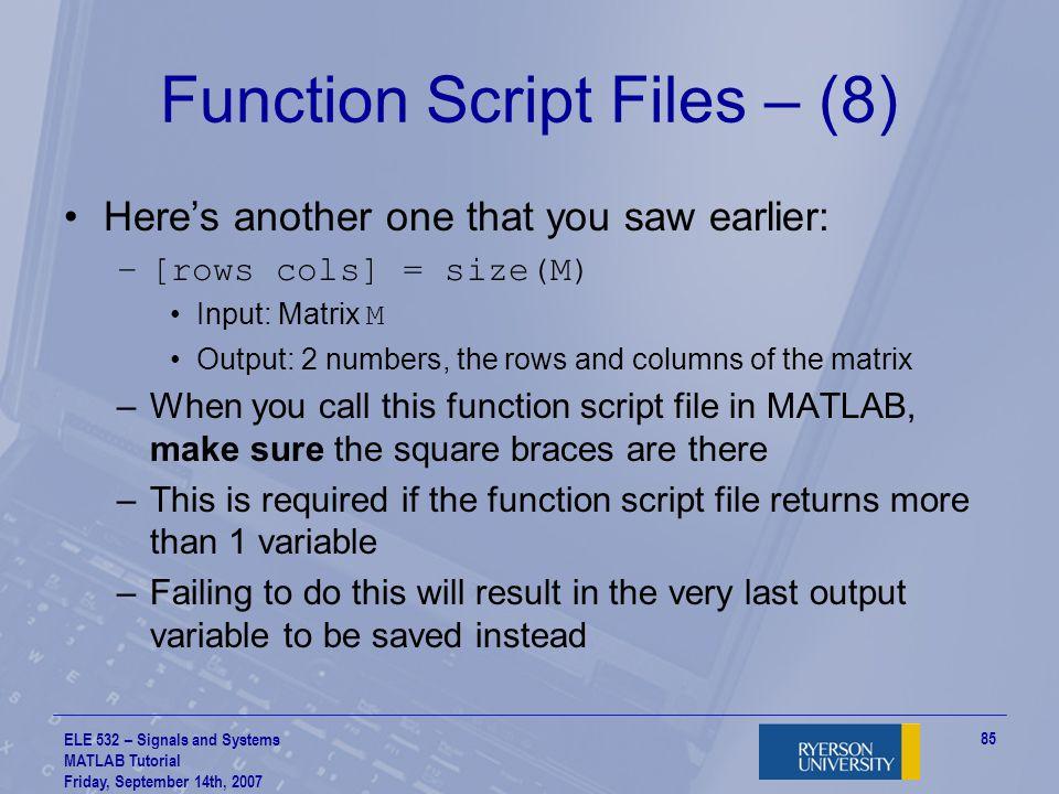 Function Script Files – (8)