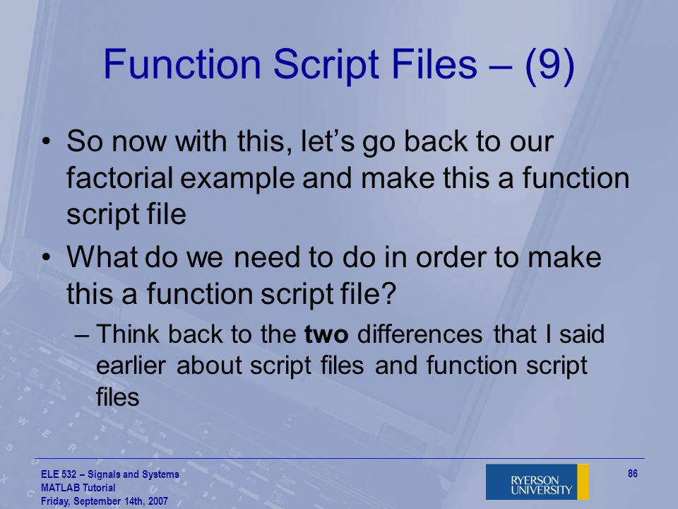Function Script Files – (9)