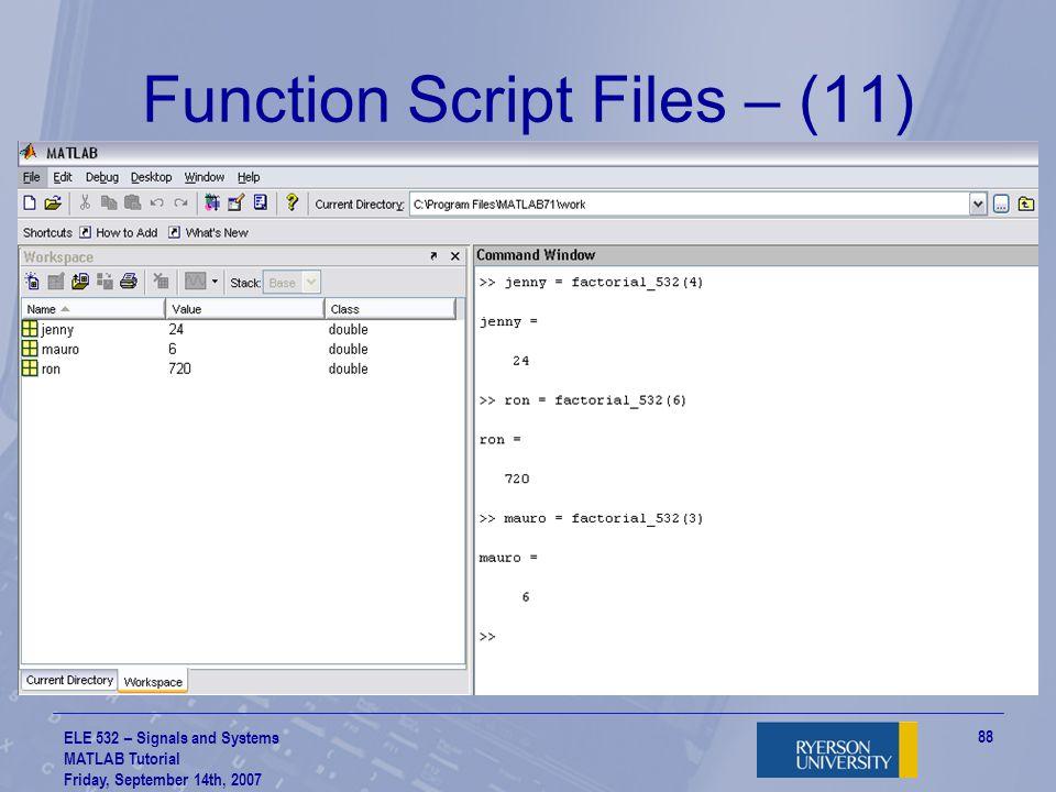 Function Script Files – (11)