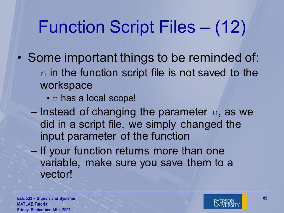 Function Script Files – (12)