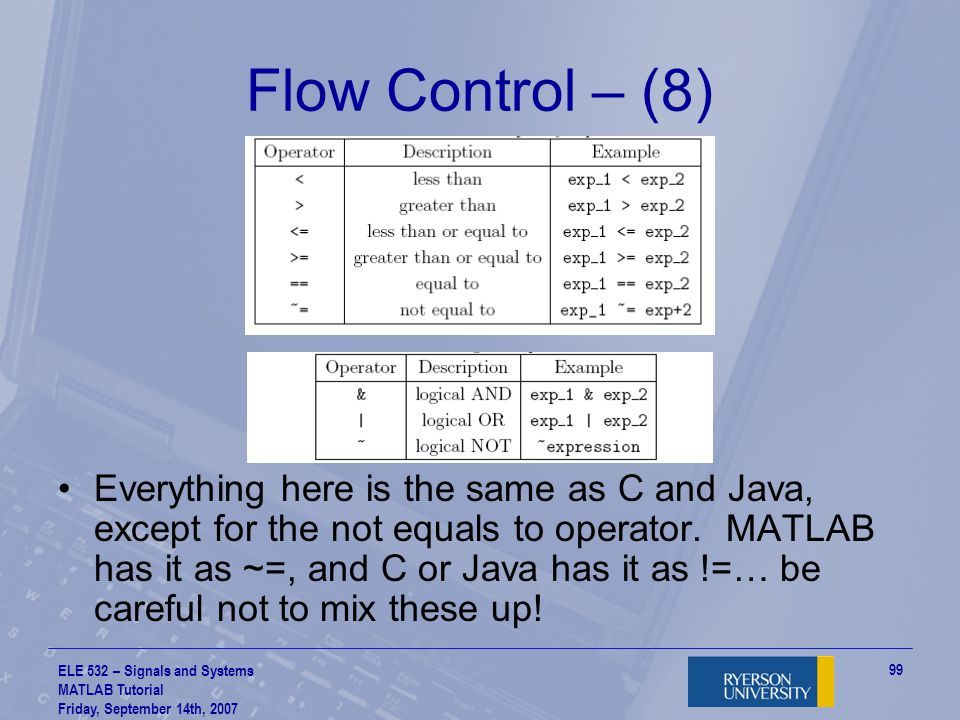 Flow Control – (8)