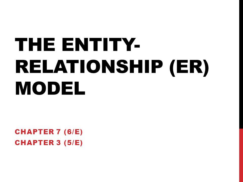 the Entity-Relationship (ER) Model