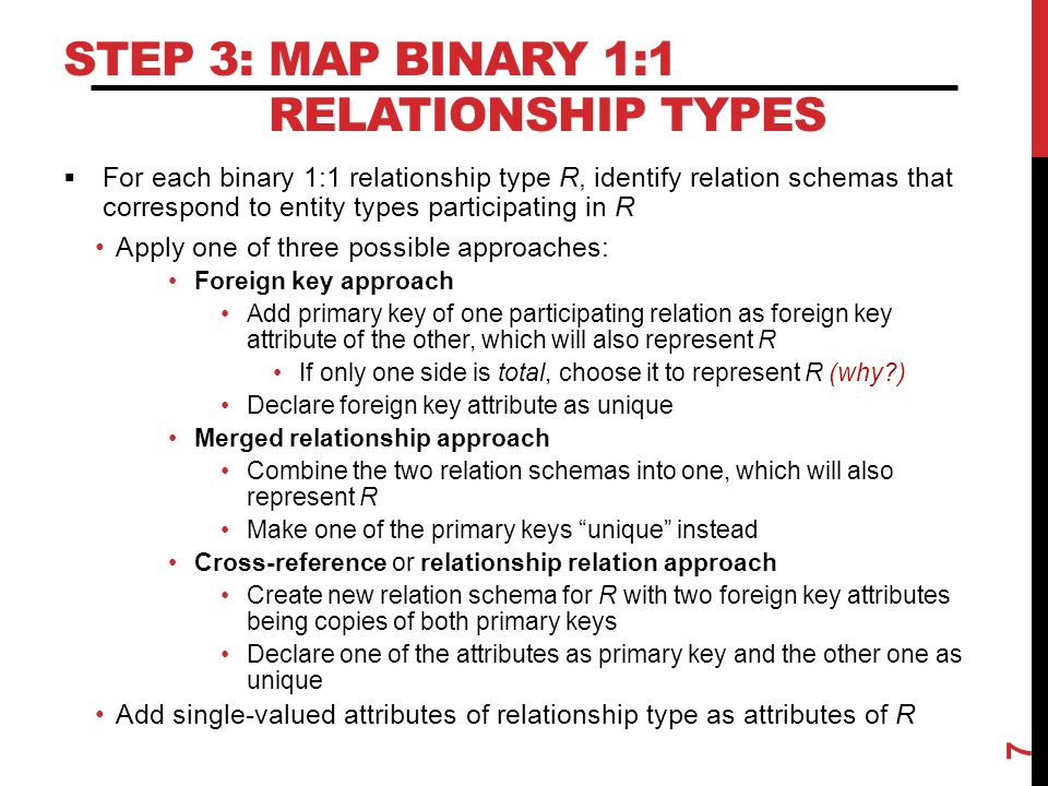 Step 3: Map Binary 1:1 Relationship Types
