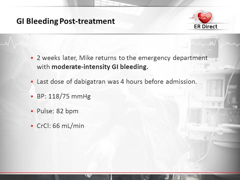 GI Bleeding Post-treatment