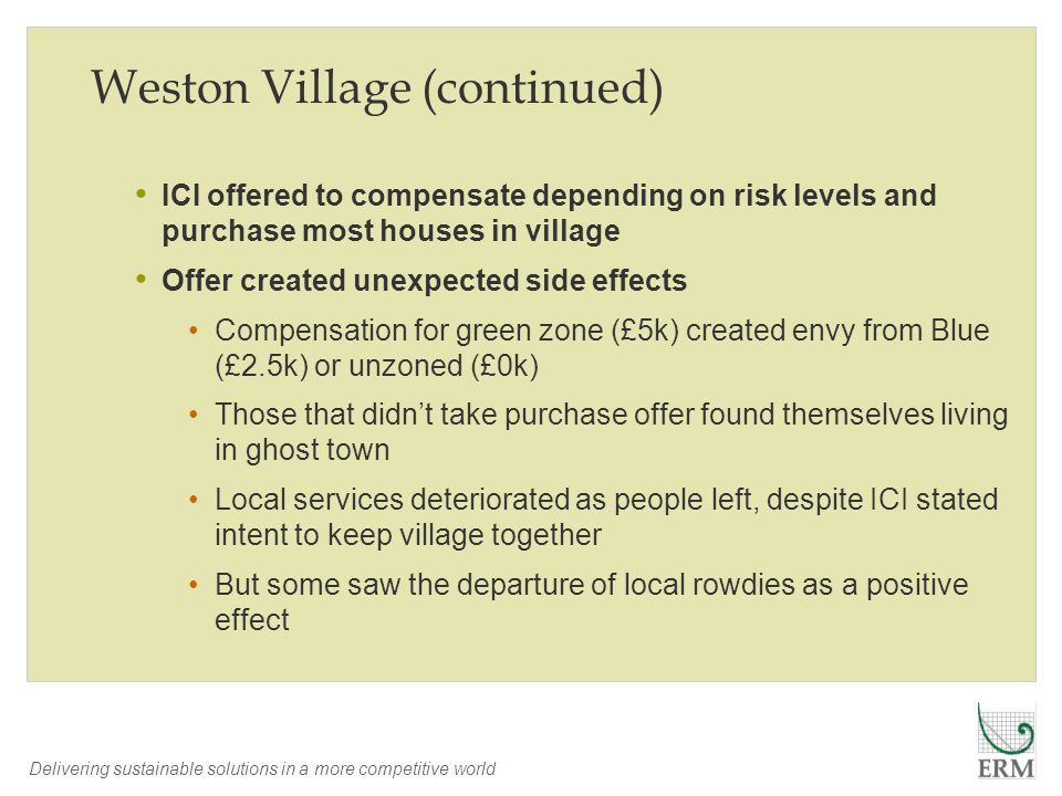 Weston Village (continued)