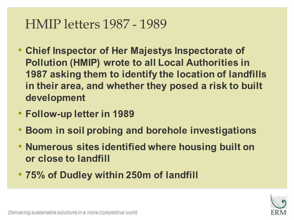 HMIP letters 1987 - 1989