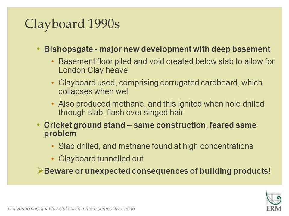 Clayboard 1990s Bishopsgate - major new development with deep basement