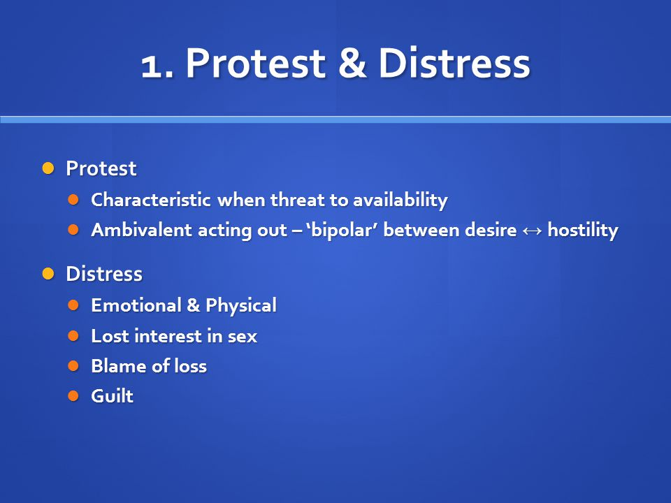 1. Protest & Distress Protest Distress
