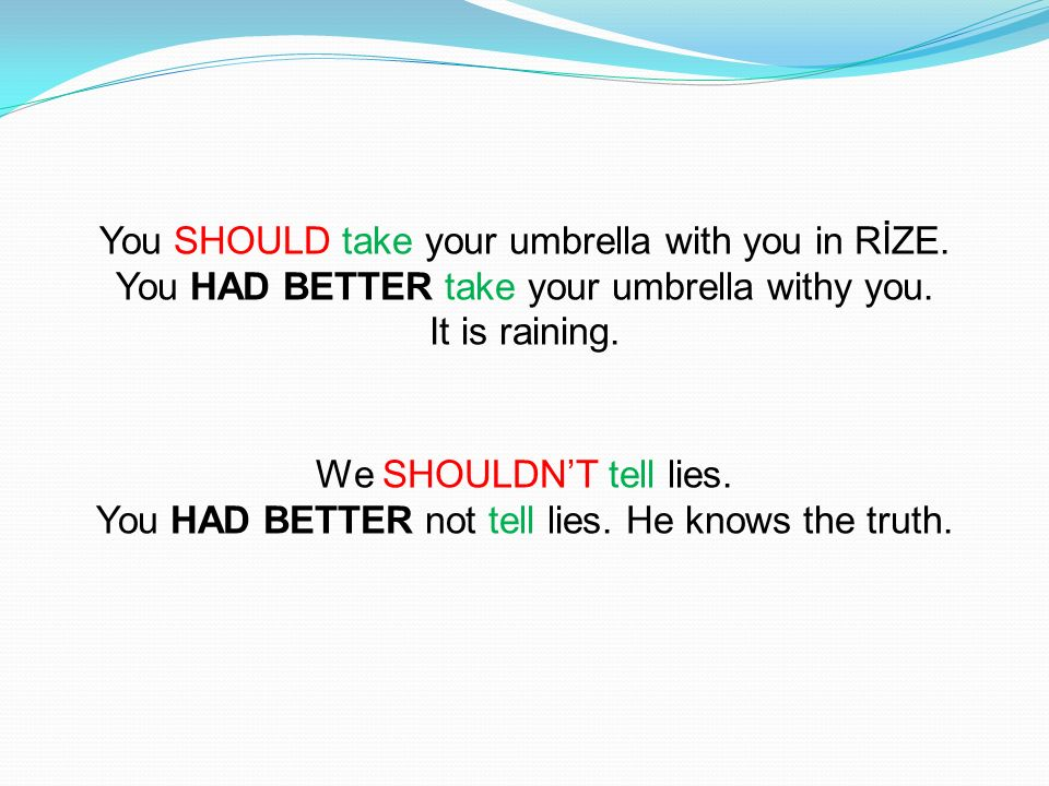 You SHOULD take your umbrella with you in RİZE.