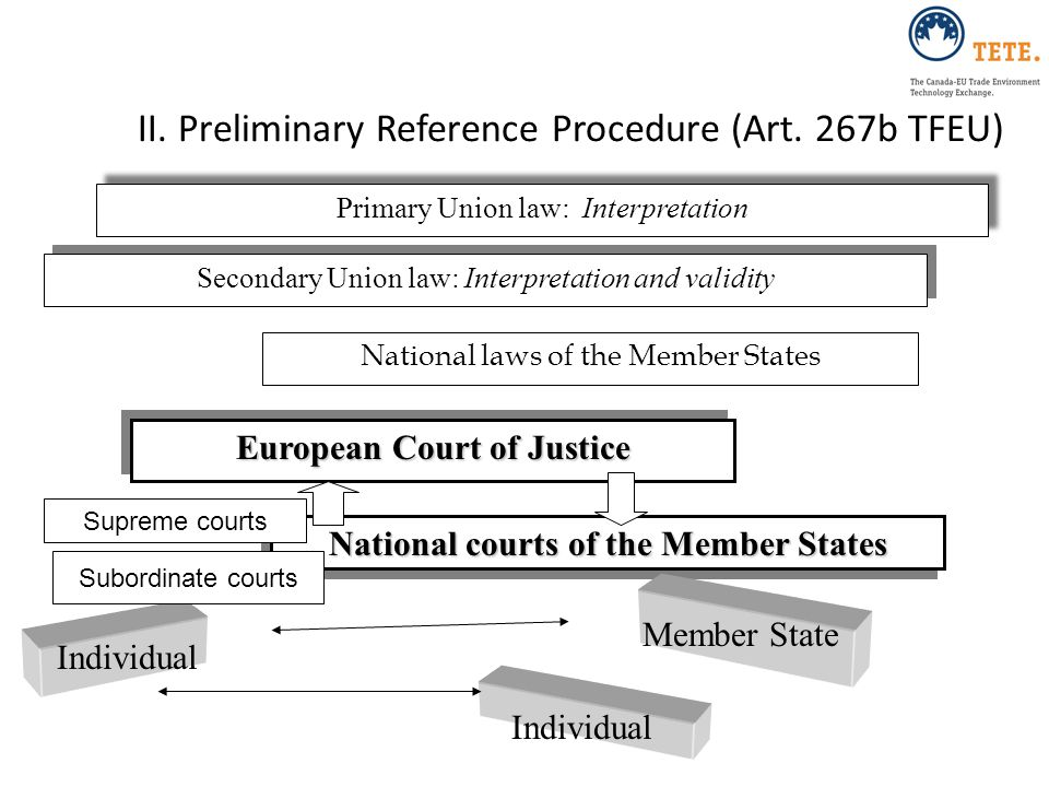 II. Preliminary Reference Procedure (Art. 267b TFEU)