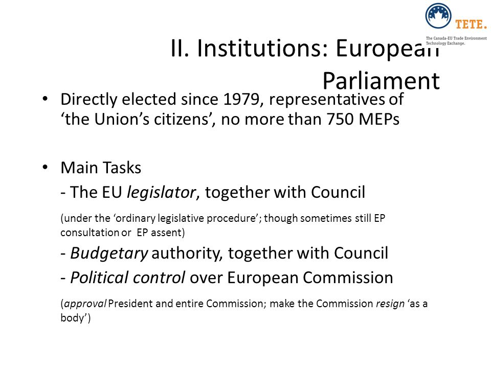 II. Institutions: European Parliament