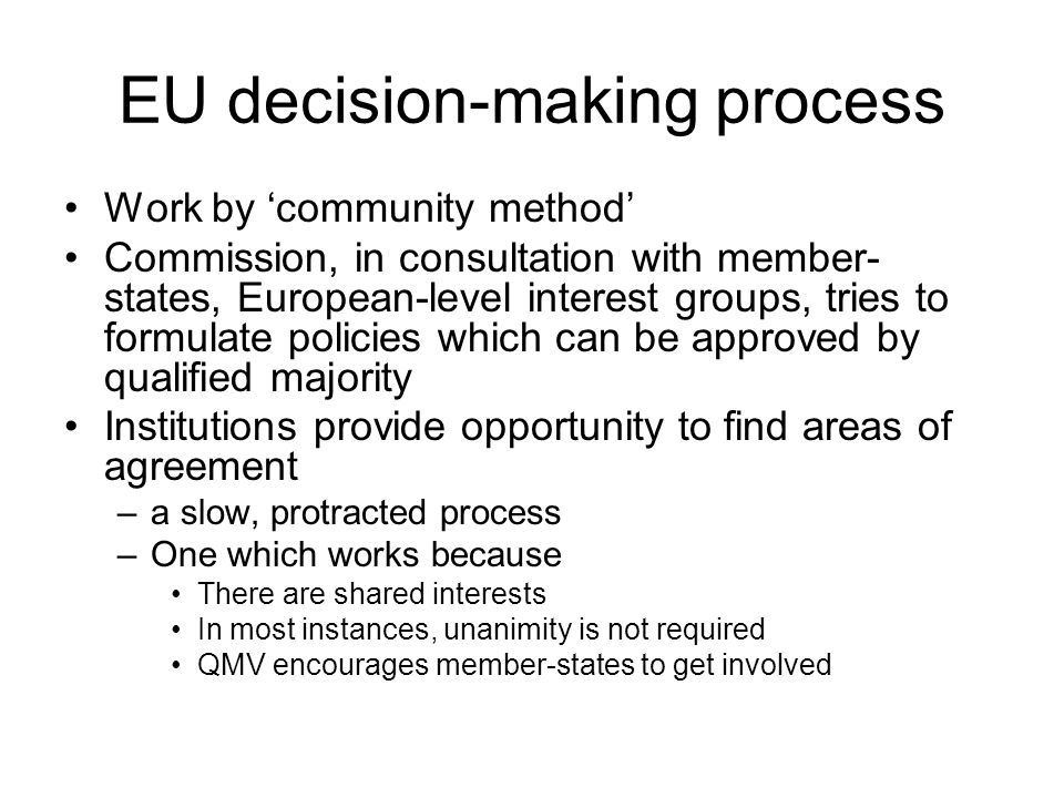 EU decision-making process