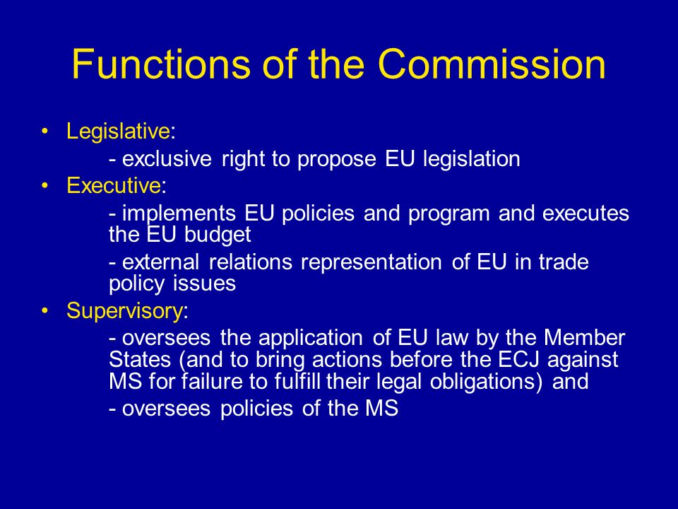 Functions of the Commission