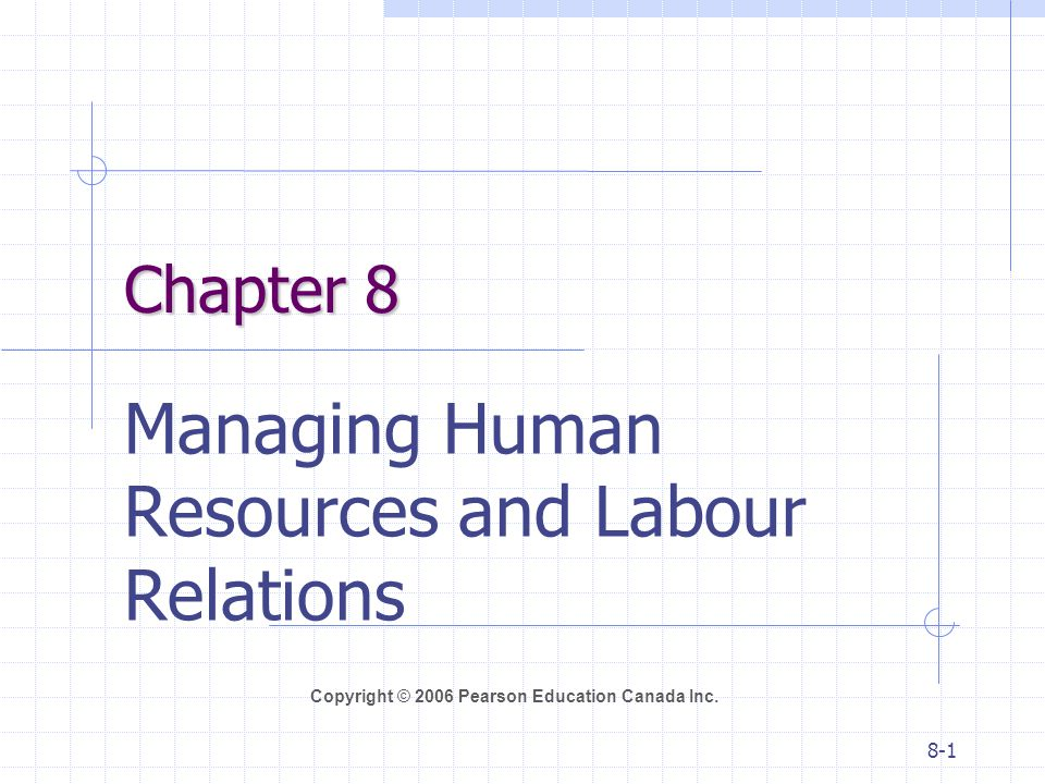 Managing Human Resources and Labour Relations