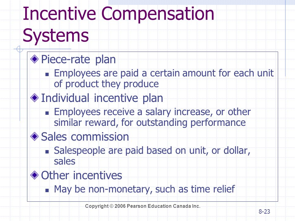 Incentive Compensation Systems