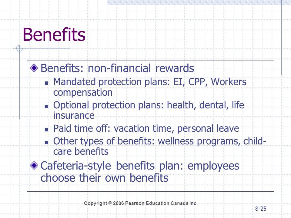 Benefits Benefits: non-financial rewards