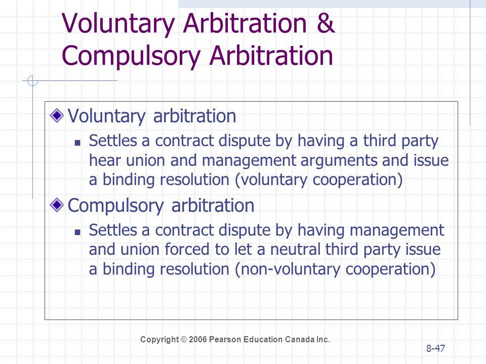 Voluntary Arbitration & Compulsory Arbitration