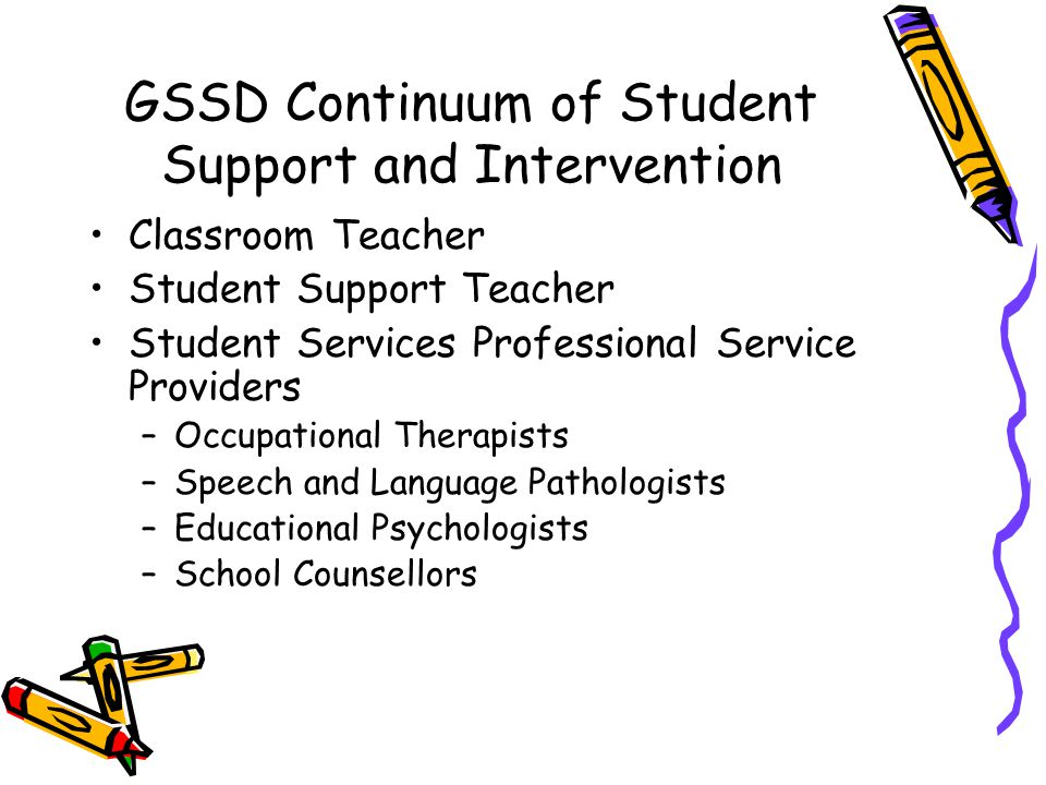 GSSD Continuum of Student Support and Intervention