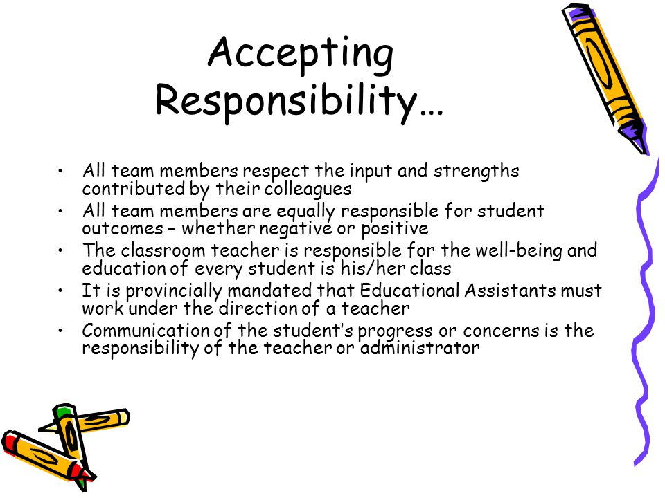 Accepting Responsibility…