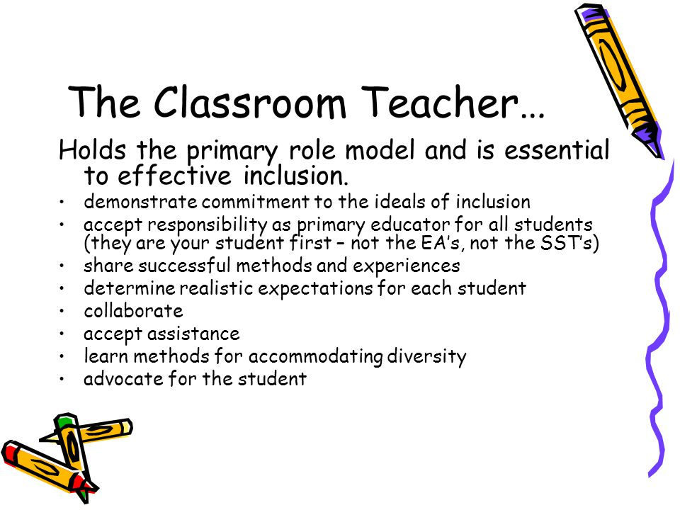 The Classroom Teacher…