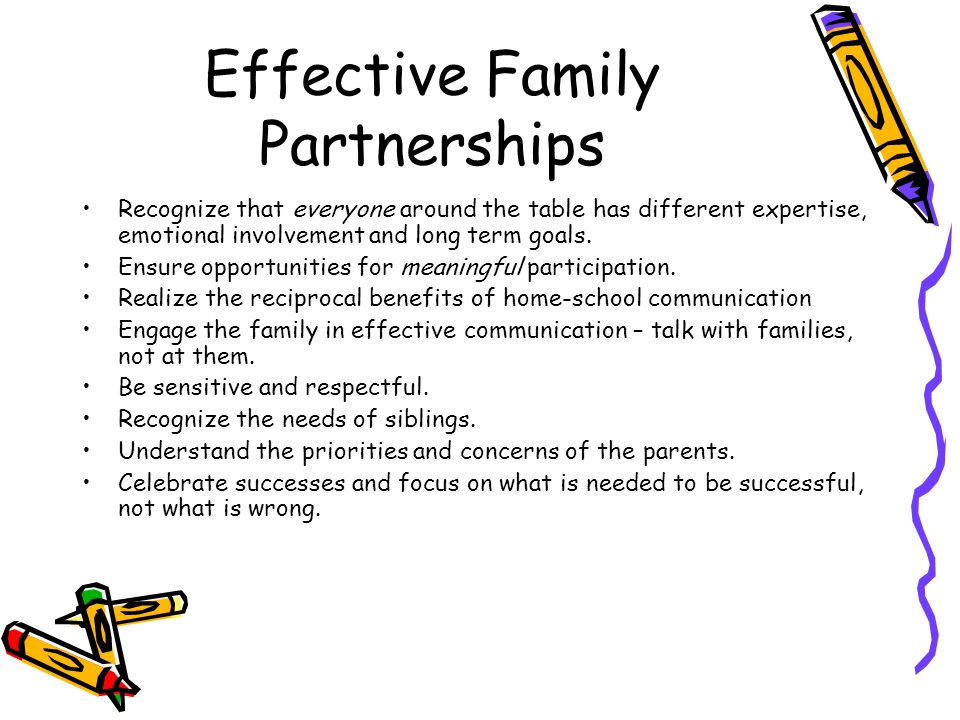 Effective Family Partnerships