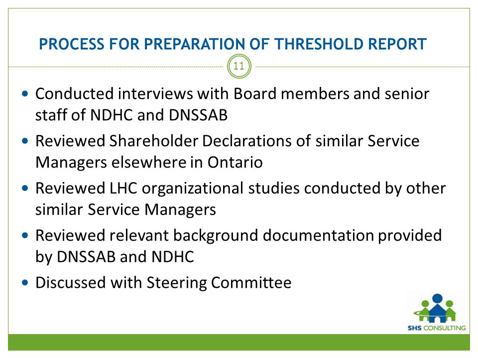 PROCESS FOR PREPARATION OF THRESHOLD REPORT