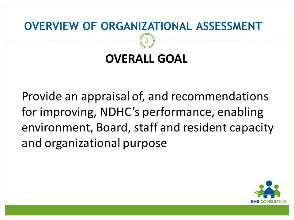 OVERVIEW OF ORGANIZATIONAL ASSESSMENT