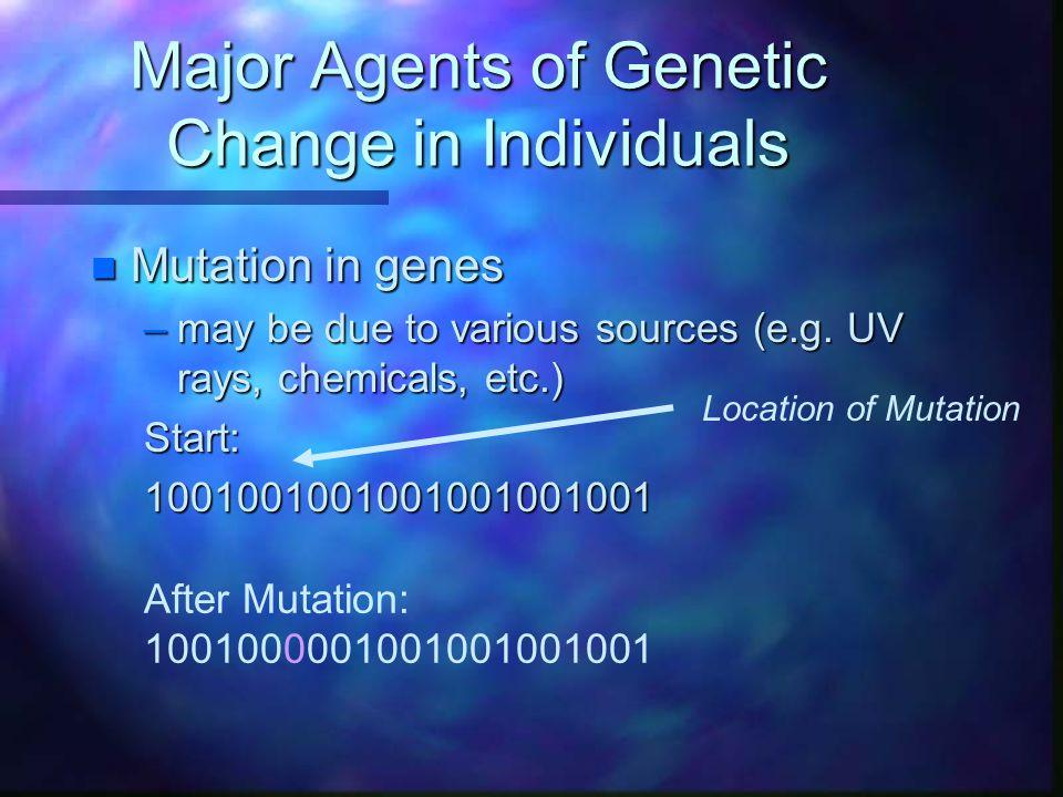 Major Agents of Genetic Change in Individuals