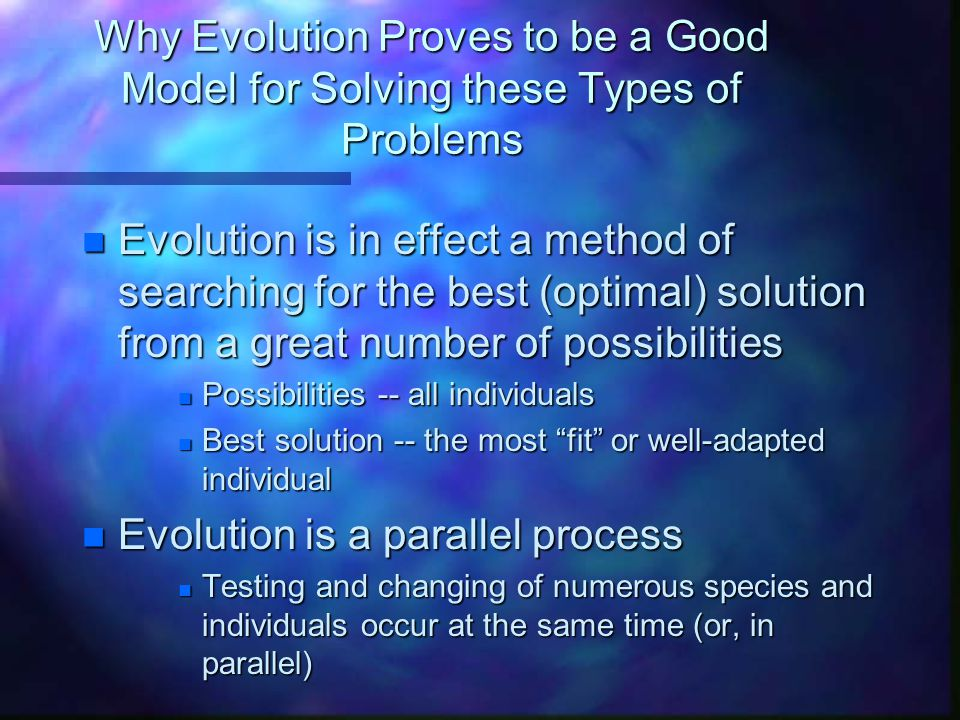 Evolution is a parallel process