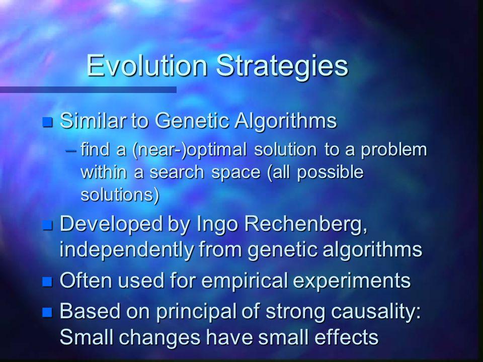 Evolution Strategies Similar to Genetic Algorithms