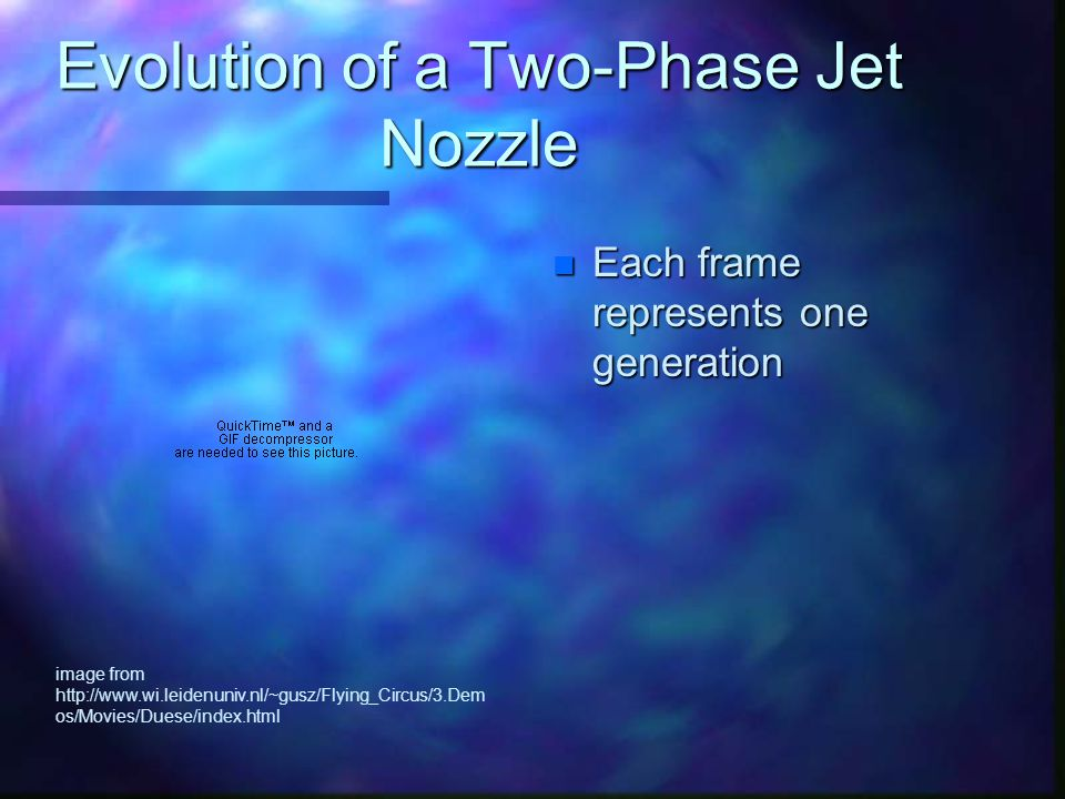 Evolution of a Two-Phase Jet Nozzle