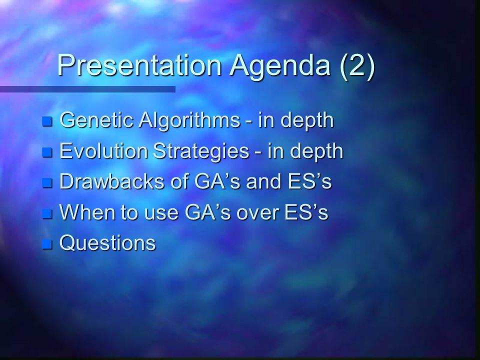 Presentation Agenda (2)